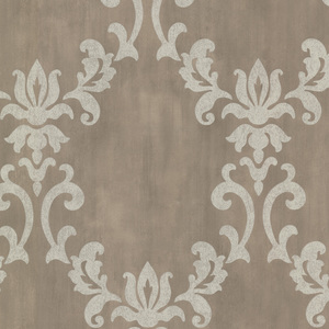 Renna Pewter Large Scroll Damask 672-20072