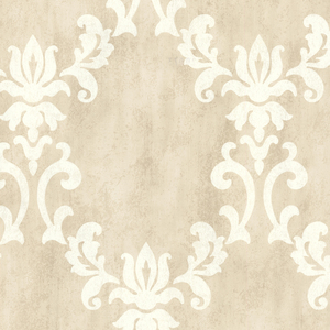 Renna Beige Large Scroll Damask 672-20074