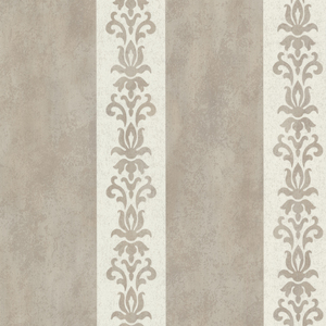 Parisi Grey Embellished Damask Stripe 672-20075