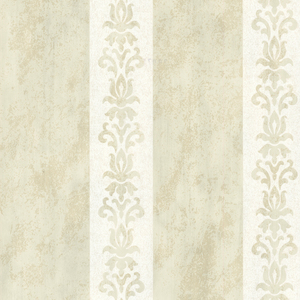 Parisi Cream Embellished Damask Stripe 672-20076