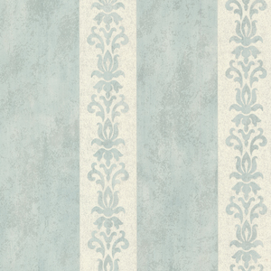 Parisi Light Blue Embellished Damask Stripe 672-20078