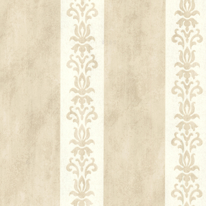 Parisi Beige Embellished Damask Stripe 672-20079