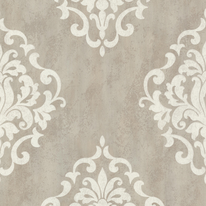 Massa Grey Large Ornate Damask 672-20085