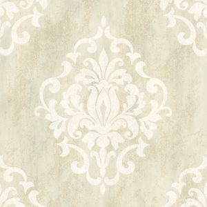 Massa Cream Large Ornate Damask 672-20086