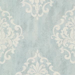 Massa Light Blue Large Ornate Damask 672-20088