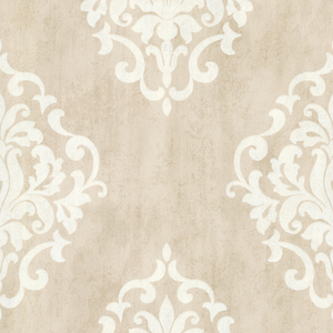 Massa Beige Large Ornate Damask 672-20089