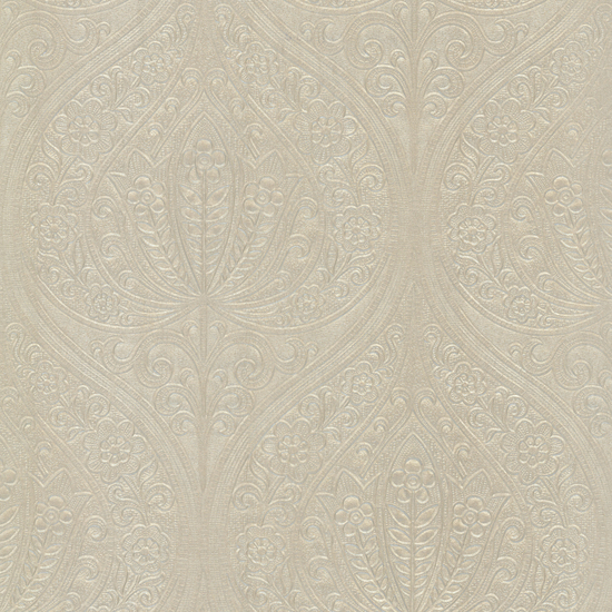 Paolina Beige Embossed Large Damask 672-20094