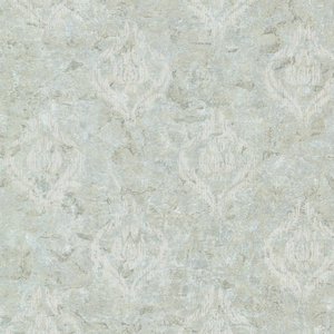 Benza Light Green Small Textured Damask 672-20036