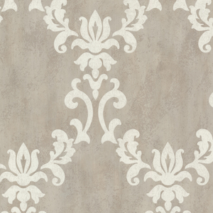 Renna Grey Large Scroll Damask 672-20070