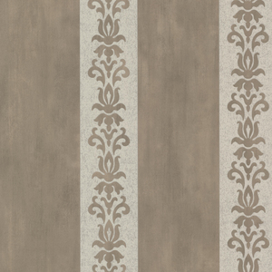 Parisi Pewter Embellished Damask Stripe 672-20077