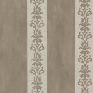 Parisi Pewter Embellished Damask Stripe 672-20077