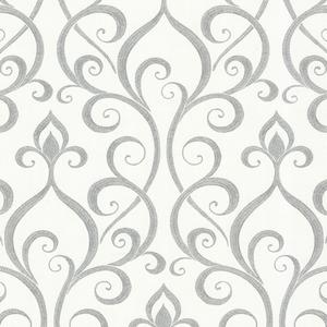 Demeter Grey Glamorous Ogee Scroll 484-68027