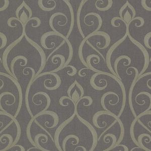 Demeter Charcoal Glamorous Ogee Scroll 484-68028