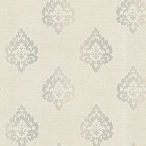 Orpheus Light Grey Transitional Damask Print 484-68041