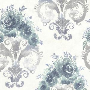 Allana Green Scrolling Floral Urn 484-68062