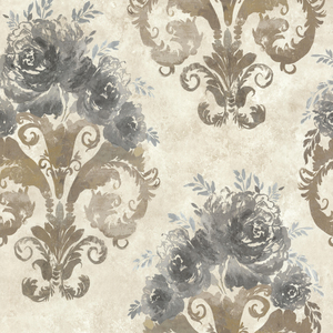 Allana Grey Scrolling Floral Urn 484-68065