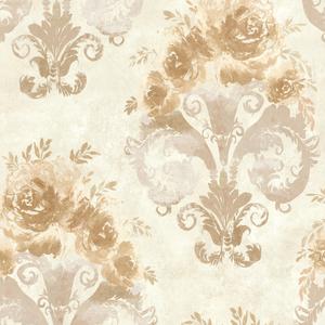Allana Peach Scrolling Floral Urn 484-68063
