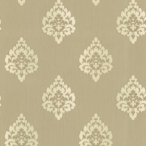 Donald Light Brown Transitional Damask Print 484-68090