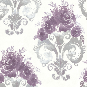 Allana Purple Scrolling Floral Urn 484-68066