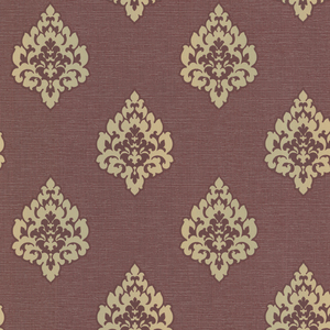 Donald Burgundy Transitional Damask Print 484-68089