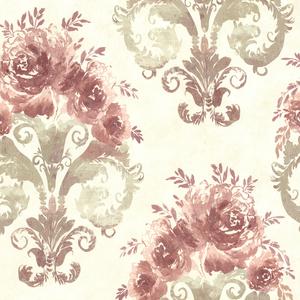 Allana Salmon Scrolling Floral Urn 484-68097