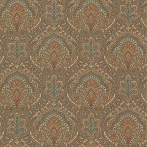 Cypress Chestnut Paisley Damask 2604-21219