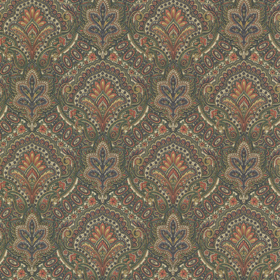Cypress Sage Paisley Damask 2604-21220