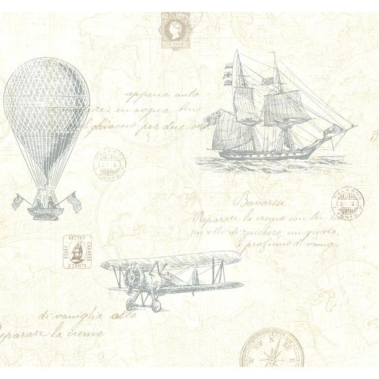 Explorer Teal Antique Map 2604-21241