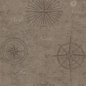 Navigate Wheat Vintage Compass 2604-21214