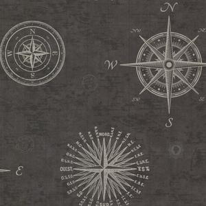 Navigate Charcoal Vintage Compass 2604-21215