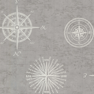 Navigate Grey Vintage Compass 2604-21216
