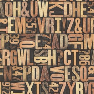 Letterpress Sand Typography 2604-21250