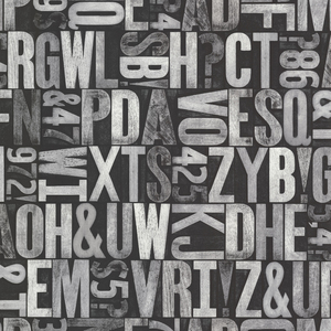 Letterpress Silver Typography 2604-21251