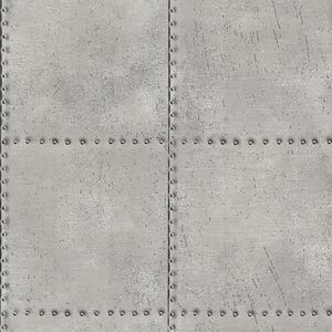 Riveted Silver Industrial Tile 2604-21252