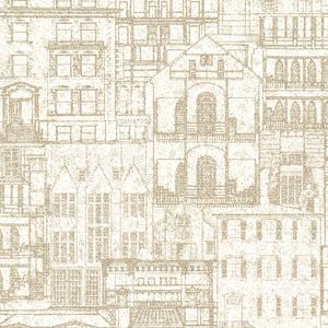 Facade Beige Vintage Blueprint 2604-21256