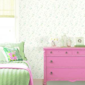 Nancy Blue Spring Bloom Trail Wallpaper HTM21563