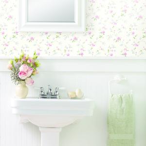 Nancy Pink Spring Bloom Trail Wallpaper HTM21564
