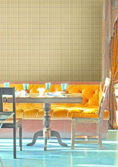 Fletcher Sand Tartan Wallpaper HTM494011