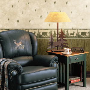 Rodeo Green Outhouse Wood Wall Wallpaper HTM49411