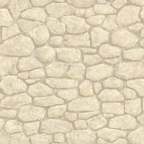 Gretel Cream Boundary Stone Wall Wallpaper HTM49435