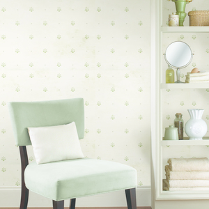 Polka Blue Pinecone Ditzy Toss Wallpaper HTM49473