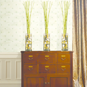Polka Off White Pinecone Ditzy Toss Wallpaper HTM49475