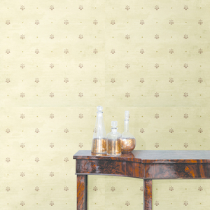 Polka Cream Pinecone Ditzy Toss Wallpaper HTM49477