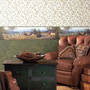 Cynthar Cream Pine Branch Trail Wallpaper HTM51164