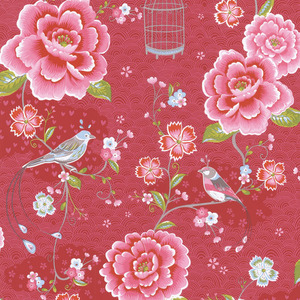 Magenta Floral Birds Trail 313011