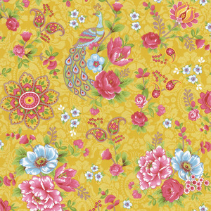 Mustard Paisley Floral 313050