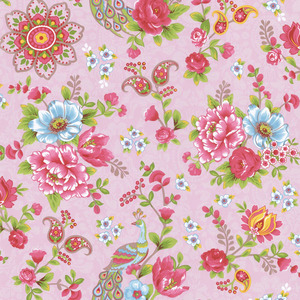 Pink Paisley Floral 313053