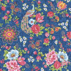 Blue Paisley Floral 313054