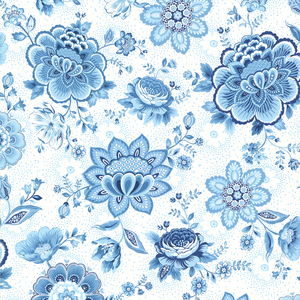 Kali Light Blue Folklore Chintz 341012