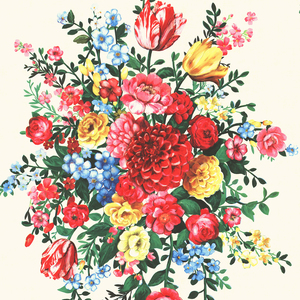 Ayaanle Cream Dutch Painters Floral 341040